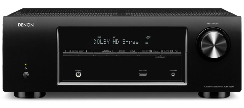 Denon-AVR-X500-black
